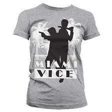Officially Licensed Miami Vice Silhuettes Women T-Shirt S-XXL Sizes