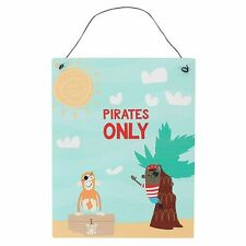 Pirates Only - Metal Wall Hanging Sign