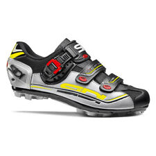 SIDI Eagle 7 MTB Cycling Shoes - Color Black/Silver/Yellow, Size 37 ~ 46 EUR