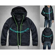 NWT ABERCROMBIE & FITCH MENS LAKE EATON JACKET COAT NAVY SIZE XL A&F
