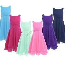 Chiffon Flower Girls Princess Kids Formal Party Pageant Wedding Bridesmaid Dress