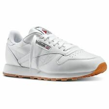 Reebok 49797 Classic Leather White Gum Tennis Running Shoes Sneakers Men