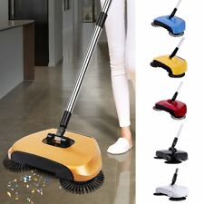 Automatic Hand Push Sweeper 360° Spinning Broom Household Cleaning No Electric