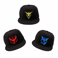 New Pokemon Go cosplay Baseball Hat Team Mystic InstInct Valor Embroidery Cap