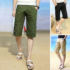 Fashion Casual Mens Cargo Shorts Pants Cotton Summer Short Pants Trousers 28-38