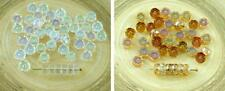 60pcs Crystal Czech Glass Faceted Disk Beads Flat Round Coin Fire Polished Beads