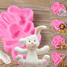 Chic 3D Animal Silicone Fondant Chocolate Mould Cake Decor Icing Sugarcraft Mold