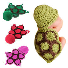 Cute New Tortoise Style Infant Newborn Crochet Hat Clothes Baby Photograph Props