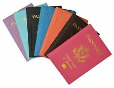 Protector Cover Wallet Travel Leather Passport Organizer Holder Card Case Color