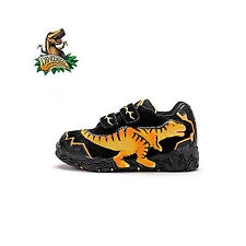 Dinosoles 3D T-Rex Low Top Boy Dinosaur's Fashion Footwear Shoe Black