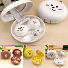 1Pc Travel Portable Cute Animal Shape Contact Lens Case Container Holder Box US