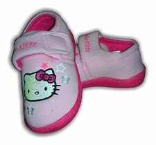 Girls Slippers Shoes HELLO KITTY Velcr Pink Tiffany Sizes 6-12 (24-30)