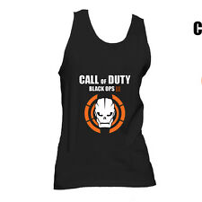 B173 Call Of Duty Black Ops 3 Skull Logo Call Of Duty Xbox PS3 BO3  vest singlet