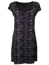 Queen of Darkness Skull and Roses Grey Dress