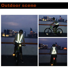 Traffic Night Work Security Running Cycling Safety Reflective Vest Jacket TS