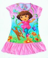Childrens Kids Girls Dora the Explorer Perrito Nightgown Pajamas Sleepwear (K81)