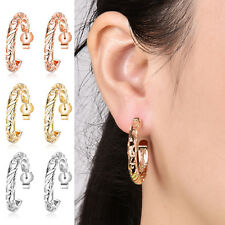 Fashion Women Hook Earrings Hollow Hoop Round Circle Ear Studs Gift Drop Dangle