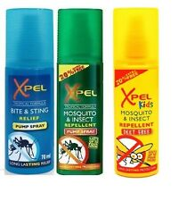 Xpel Mosquito & Insect Repellent + Bite & Sting + Deet Free Relief Pump Spray