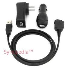 USB Sync Charger Cable + Wall + Car for ALL Compaq HP iPaq H HW & RW PDA - USA