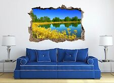 3D Flower River 892Wall Murals Stickers Decal breakthrough AJ WALLPAPER UK Lemom