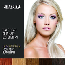 Half Head Clip In 100% Real Remy Human Hair Extensions Free Uk Delivery