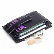 Genuine Leather Unisex Wallet Fashion Coin Pocket Purse Credit Card ID Holder BE