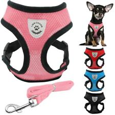 New Soft Air Nylon Mesh Puppy Dog Pet Cat Harness And Leash Set