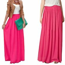 Women Long Skirt Elegant Pastel Jupe Pleated Chiffon Floor-length  Maxi Skirts
