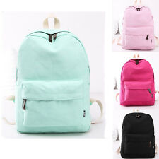Fashion Womens Girl Canvas School Bag Travel Satchel Rucksack Shoulders Backpack