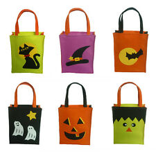 Halloween Pumpkin Ghost Witch Candy Bag Trick or Treat Tote Bags For Kids