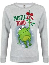 Mistle Toad Christmas Jumper Women's Grey Sweater