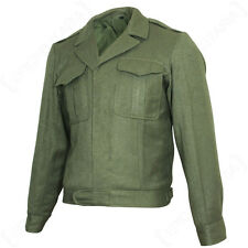 US Ike Style Vintage Jacket - Olive American WW2 Repro Coat Tunic Top Army New