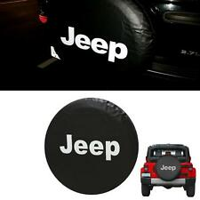 Wheel Spare Tire Tyre Cover w/ Logo For Jeep Wrangler JK Rubicon 95-17 16/17Inch