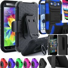 Shockproof Rugged Belt Clip Holster Swivel Rotating Stand Case Cover USA SELLER