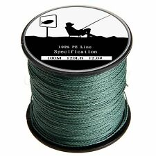 Moss Green 100-1000M 4 Strands Dyneema Spectra Extreme PE Braided Fishing Line