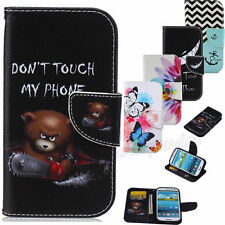 Flip Card Holder Wallet  Leather Phone Case Cover Skin For Samsung Galaxy Hybrid
