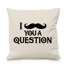 I Moustache You A Question Funny Tache Pillow Cushion Cover Gift