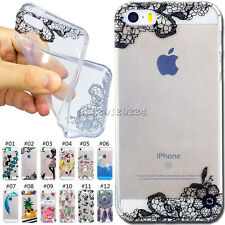 Cute Skin Various Soft Case Rubber TPU Silicone Cover For Apple iPhone SE/5/5S