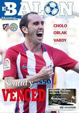 ATLETICO MADRID v LEICESTER CITY 12.4.2017 CHAMPIONS LEAGUE PROGRAMME QUARTER F