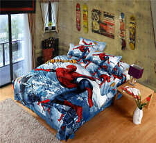NEW Spiderman Cartoon 3d print comforter bedding sets twin size comforter* boys