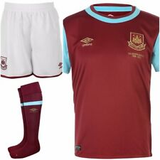 100% Official Umbro West Ham United Kid's Home Kit 2015/16, Shirt,Shorts & Socks
