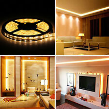 5-20M SMD 5050 Warm White Waterproof Flexible LED Tape Strip Light 12V DIY Lamp