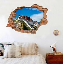 3D Potala Palace 8 Wall Murals Stickers Decal breakthrough AJ WALLPAPER AU Lemon