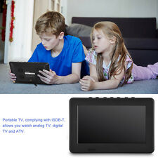 "7"" Rechargeable Portable Digital Color 1080p HD TV Player LCD TFT-LED Screen HL"