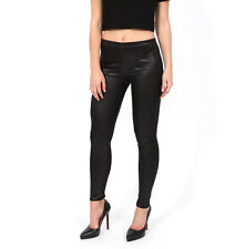 Womens Black Sexy PVC Wet Look Leggings Ladies Skinny Shiny Leather Look Legging