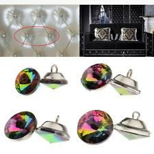 25pcs Colorful Crystal Shank Buttons Sofa Sewing Buttons Upholstery Decoration