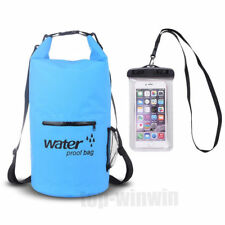 Waterproof Dry Gear Bag backpack for Kayaking Fishing boating with phone case