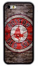 NEW BOSTON RED SOX MLB RUBBER PHONE CASE COVER FOR IPHONE 4S 5S 5C 6S 6 7 PLUS