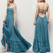 Backless Bandage Women Summer Long Boho Maxi Party Sundress Dress Beach S-XL