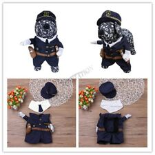 Cool Pet Cat Dog Puppy Clothes Cosplay Policeman Police Suit Pet Costume 3Pcs